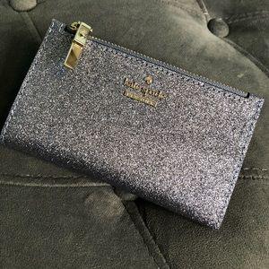 Kate Spade Pewter Glitter Wallet